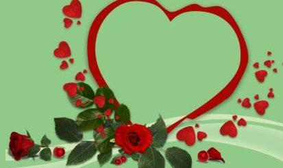 сердце и розы