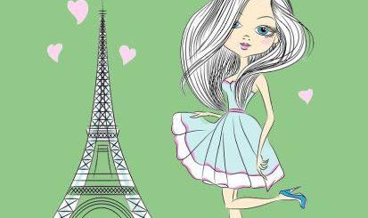 девочка в Париже