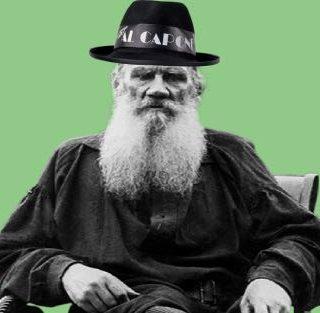 Лев Толстой в шапке
